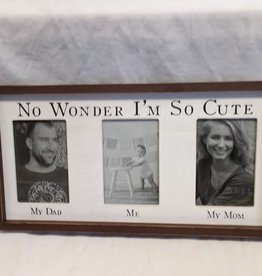 "I'm So Cute Picture Frame, 18""x9.5""x1.5"""