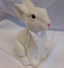 "White Sitting Bunny, 7.5"" tall"