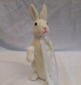 "White Standing Bunny, 11"" tall"