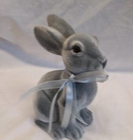 "Gray Sitting Bunny, 7.5"" tall"