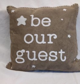 "Be Our Guest Pillow, 15""x15"""