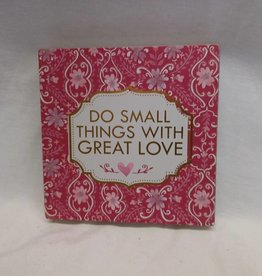 "Great Love Block Sign, 6""x6""x1"""