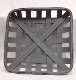 "Gray Square Tobacco Basket, Reproduction, 15.5""x15.5"""