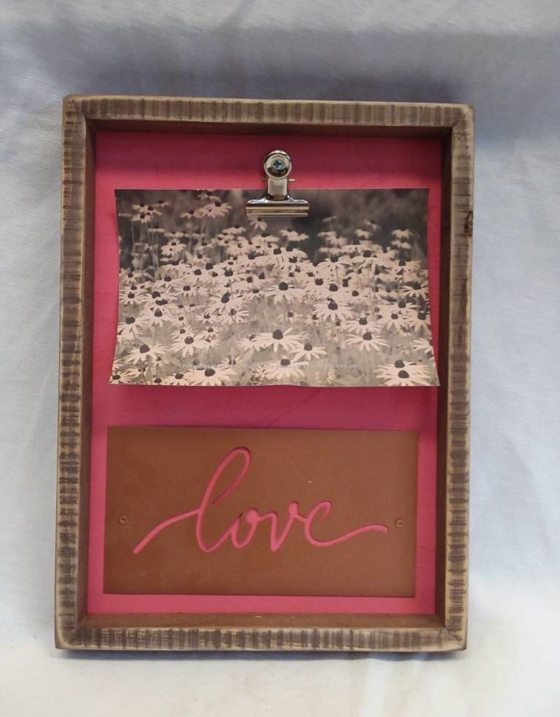 "Love-Inset Box Frame, 7.5""x10""x1"""