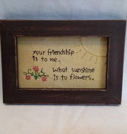 "Your Friendship Stitchery, 7.5""x5.75""x.75"""