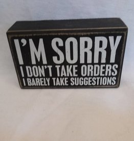 "I'm Sorry Box Sign, 5""x3""x1.75"""