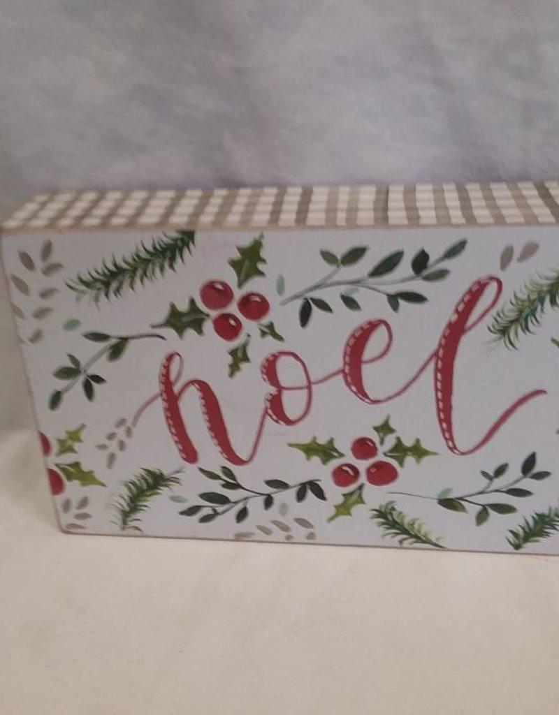 Noel Greenery Box Sign