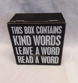 "Kind Word Box, 5""x5""x2.75"""