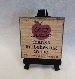 Dear Teacher Mini Easel Sign