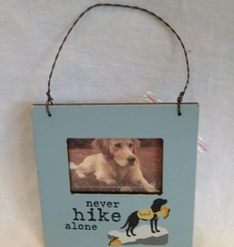 Never Hike Alone Mini Frame Hang Tag