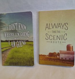 Where I'm Going/Take Scenic Route 2 Pc. Notebook Set