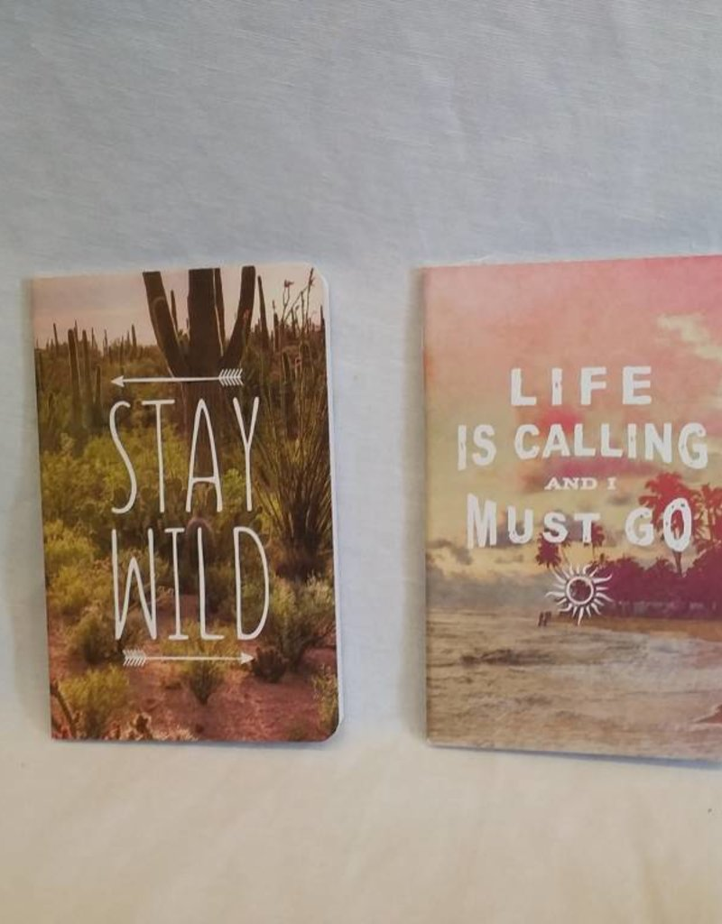 Life Is Calling/Stay Wild Set of 2 Notebooks