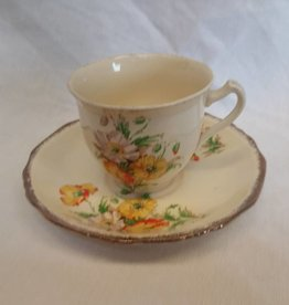 Marigold Pattern Cup & Saucer