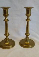 """Pair Brass Candlesticks, 7"""", c.1920"""