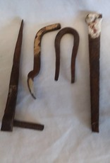 Set of 4 Hand  Forged Iron Pieces