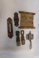 Miscellaneous Lot of Hinges, Latches, etc., 7 Pieces