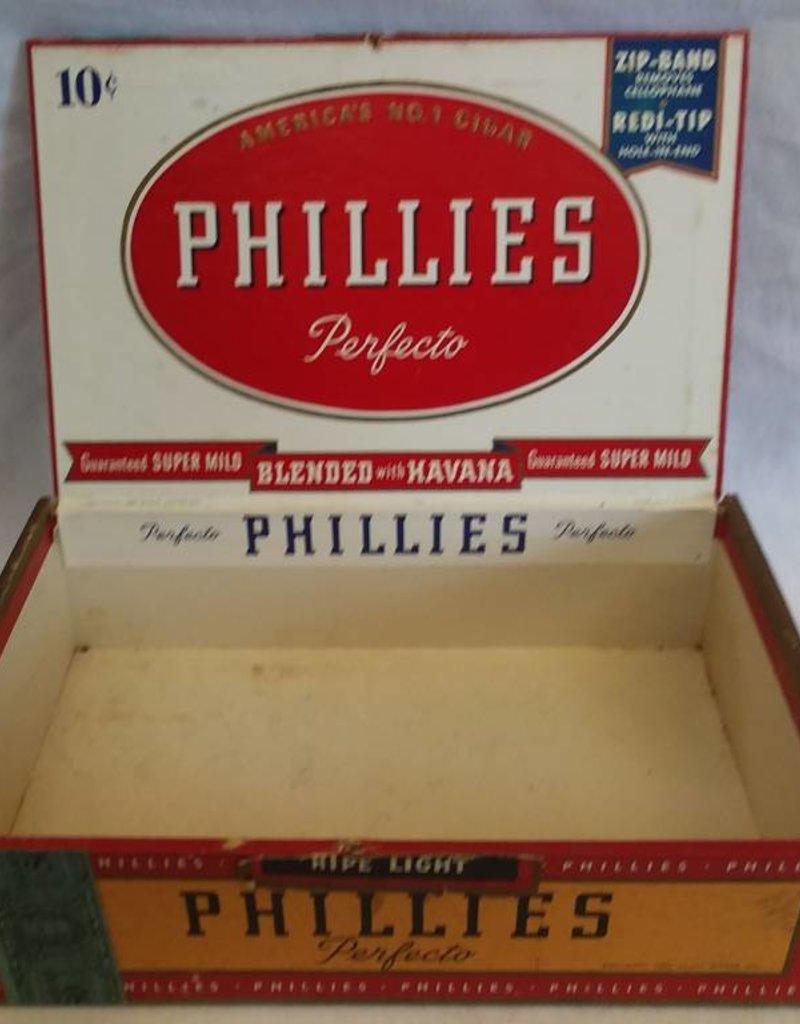 Phillies Perfecto 10 Cent Cigar Box, 1955