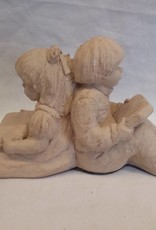 """Children Back-to-Back Bookend, 9"""", c.1980"""