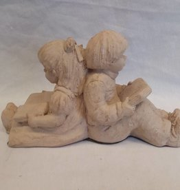 "Children Back-to-Back Bookend, 9"", c.1980"