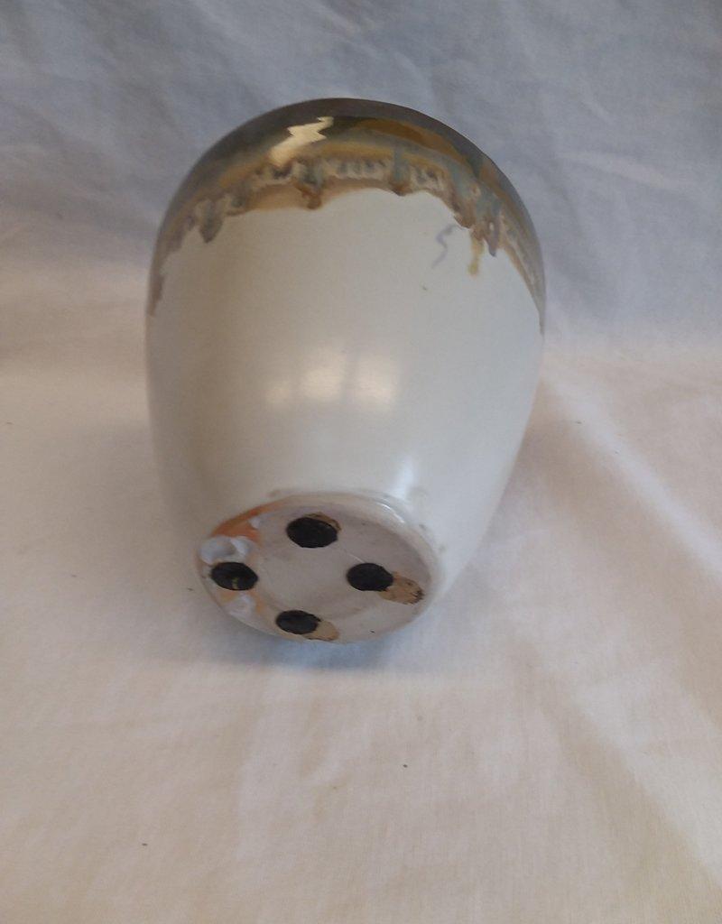 """Pottery Vase, 6""""x6.25"""", 1980's"""
