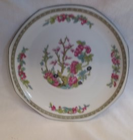 "Pink & Blue Floral Plate, 8.5"", 1950's"