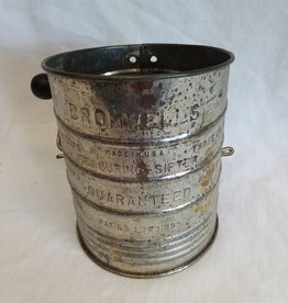 Bromwell's Tin Flour Sifter, 4 Cup, c.1950