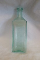 "Hood's Sarsaparilla Green Bottle, 8 7/8"" Tall, E.1900's"
