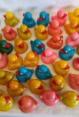 "Plastic Duck, Various Colors, 2.75""x2.75"", c.1950's-1960's"