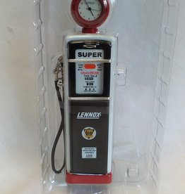 Lennox 1950's Gas Pump Clock Bank, 7""