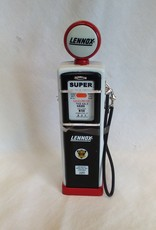 "Lennox 1950's Gas Pump Clock Bank, 7"""