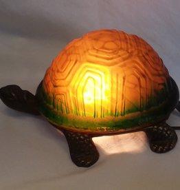 "Cast Iron Turtle Table Lamp, 9""x4"", c.2000"