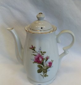 Pink Rose Design Chocolate Pot, c.1970