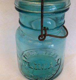 Climax Aqua  Canniung Jar, Pint, E.1900's