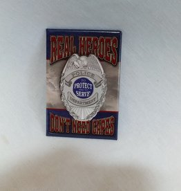 "Real Heroes Police Magnet, 2""x3"""