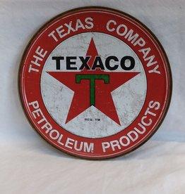 "Round Texaco Reproduction Sign, 12"" Diameter"