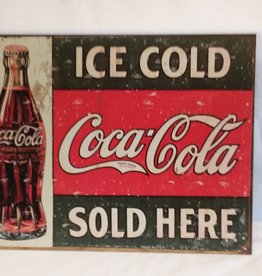 Ice Cold Coca-Cola Sold Here Reproduction Sign, 16.5x12""
