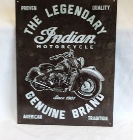"""Indian Motorcycle Reproduction Sign, 12.5""""x16"""""""