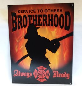 "Brotherhood Firefighters Sign, 12.5""x16"""