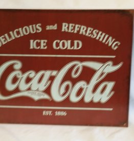 "Coca-Cola, Est. 1886 Reproduction Sign, 16""x12.5"""