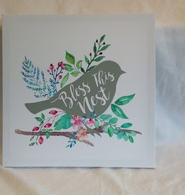 "Bless This Nest Canvas, 14""x14"""