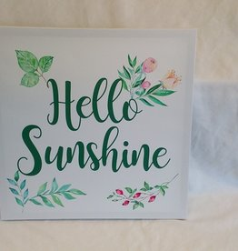 "Hello Sunshine Canvas, 17""x17"""