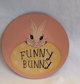 Funny Bunny Decorative Plate, 8""