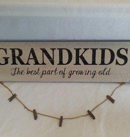"Grandkids Photo Holder w/Clips, 22""x6"""