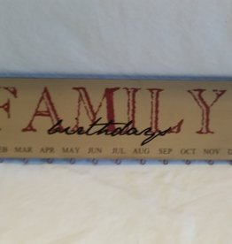 "Family Birthday Calendar, 18""x5"""