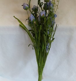 Blue Paper Rose Buds Pick