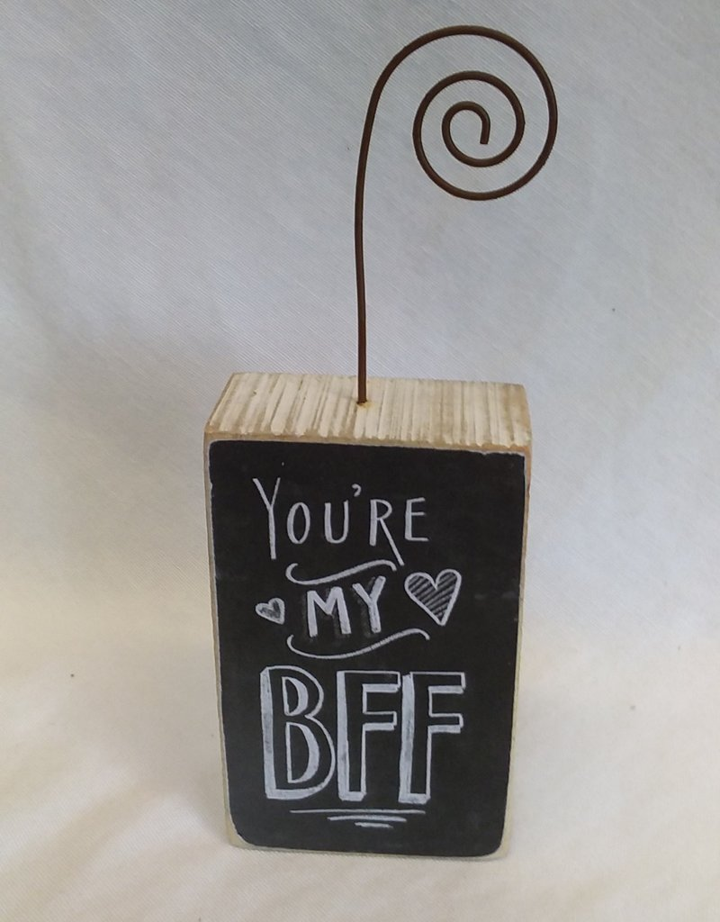 "You're My BFF Picture Holder, 2.5""x7""x1.5"""