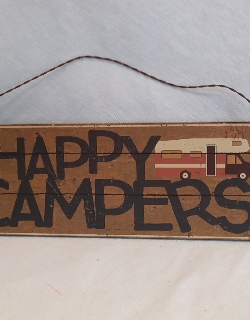"""Happy Campers Hanging Decor, 8""""x3"""""""