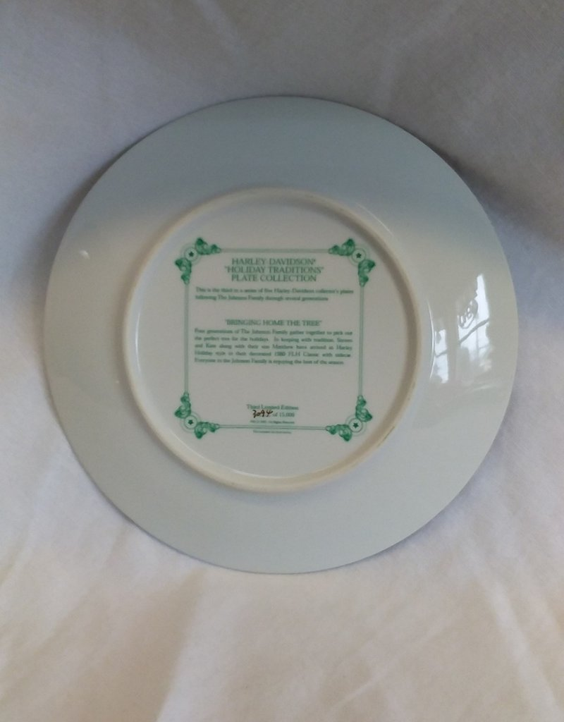 """Bringing Home The Tree""  Collector's Plate, 8.5"", 2001"