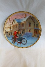"""Under The Mistletoe"" Collectible Plate, 8.5"", 1994"