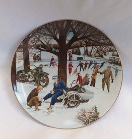 """The Skating Party"" Collectible Plate, 8.5"", 1991"